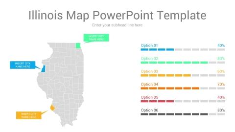 Illinois map powerpoint template