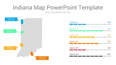 Indiana map powerpoint template