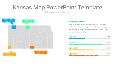 Kansas map powerpoint template