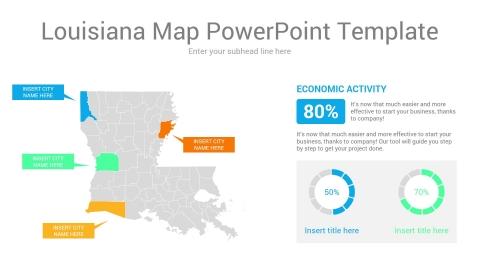 Louisiana map powerpoint template