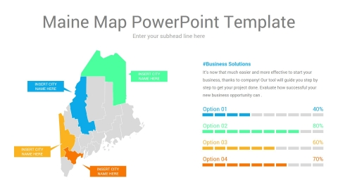 Maine map powerpoint template