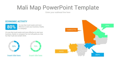 Mali map powerpoint template