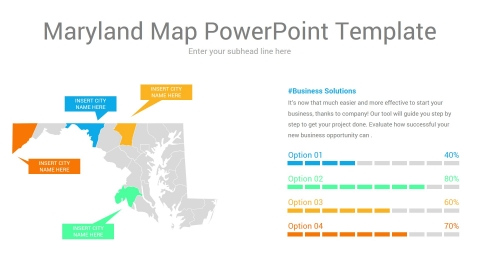 Maryland map powerpoint template