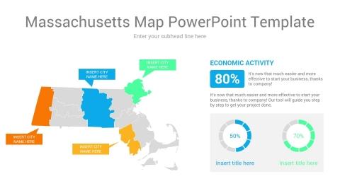 Massachusetts map powerpoint template