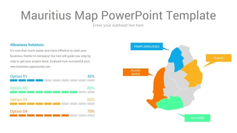 Mauritius map powerpoint template