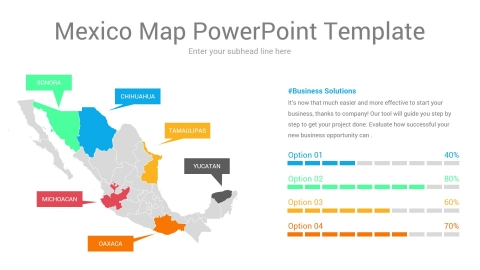 Mexico map powerpoint template