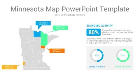 Minnesota map powerpoint template