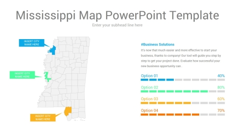 Mississippi map powerpoint template