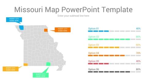 Missouri map powerpoint template