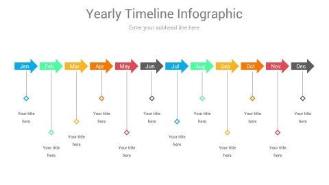 Modern Timeline PowerPoint Diagram