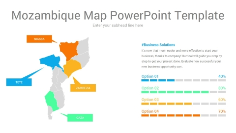 Mozambique map powerpoint template