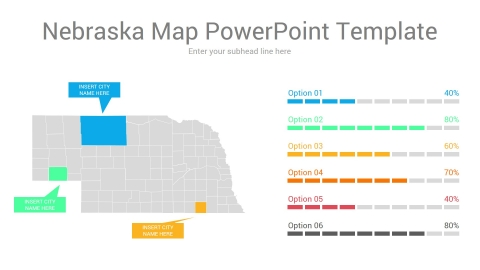 Nebraska map powerpoint template
