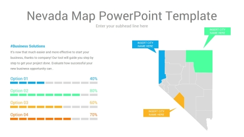 Nevada map powerpoint template