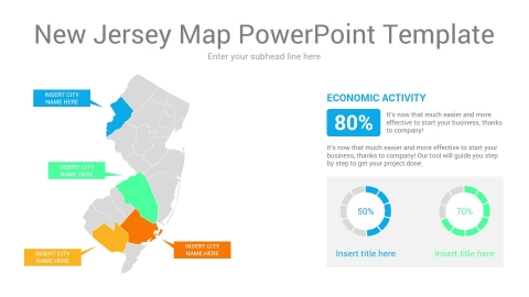 New Jersey map powerpoint template