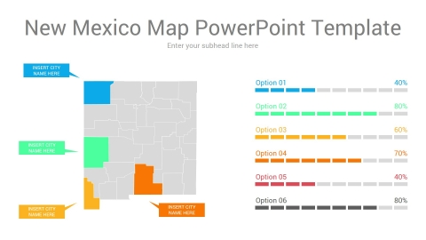 New Mexico map powerpoint template