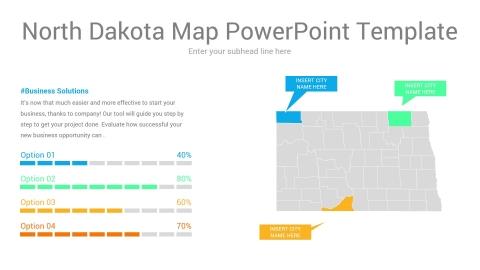 North Dakota map powerpoint template