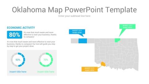 Oklahoma map powerpoint template