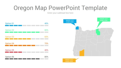 Oregon map powerpoint template