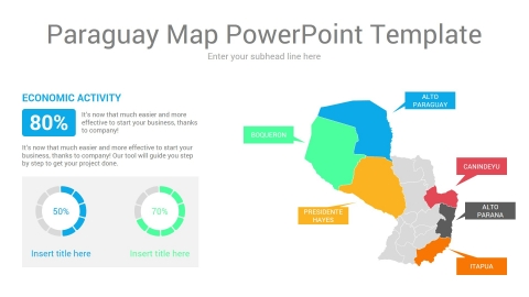 Paraguay map powerpoint template