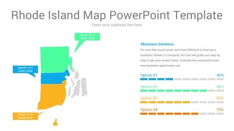 Rhode Island map powerpoint template