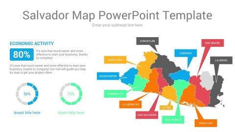 Salvador map powerpoint template
