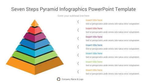 Seven Steps Pyramid Infographics PowerPoint Template