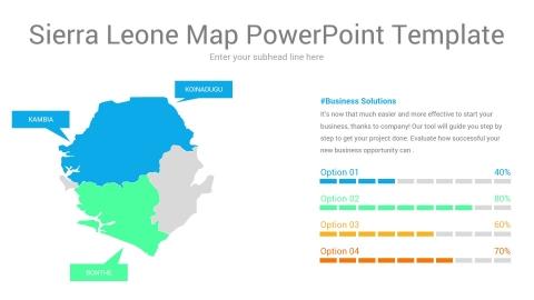 Sierra Leone map powerpoint template