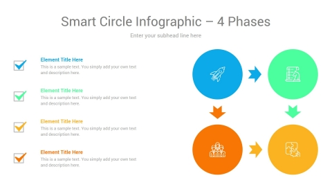 Smart Circle Infographic 4 Phases