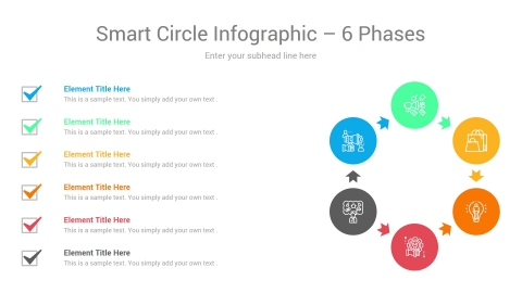 Smart Circle Infographic 6 Phases
