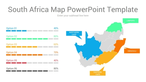 South Africa map powerpoint template