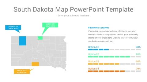 South Dakota map powerpoint template