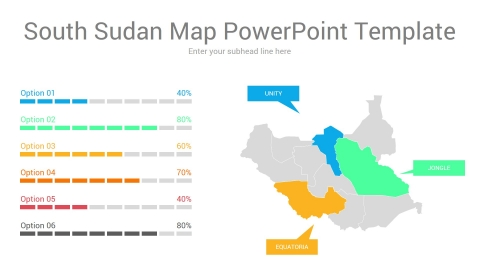 South Sudan map powerpoint template