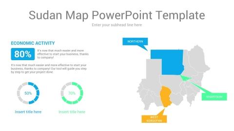 Sudan map powerpoint template