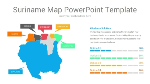 Suriname map powerpoint template