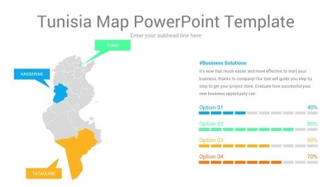 Tunisia map powerpoint template