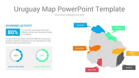 Uruguay map powerpoint template
