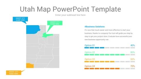 Utah map powerpoint template