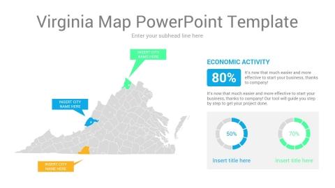 Virginia map powerpoint template