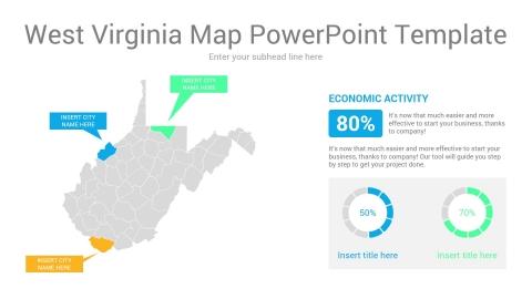 West Virginia map powerpoint template