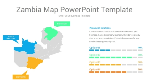 Zambia map powerpoint template
