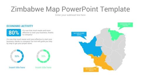 Zimbabwe map powerpoint template
