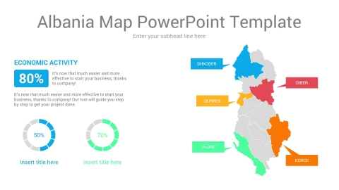 Albania Map PowerPoint Template