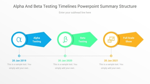 Alpha And Beta Testing Timelines PowerPoint Summary Structure