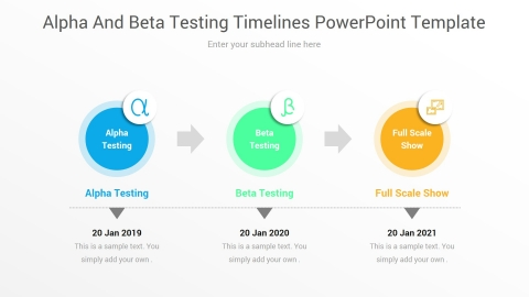 Alpha And Beta Testing Timelines PowerPoint Template