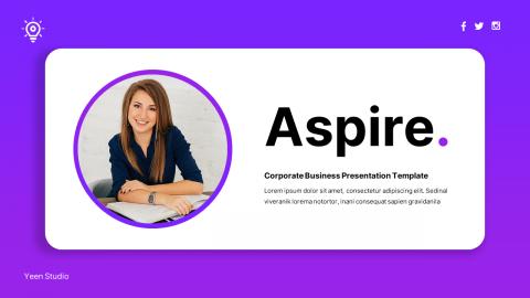 Aspire Corporate Business Presentation PowerPoint Template