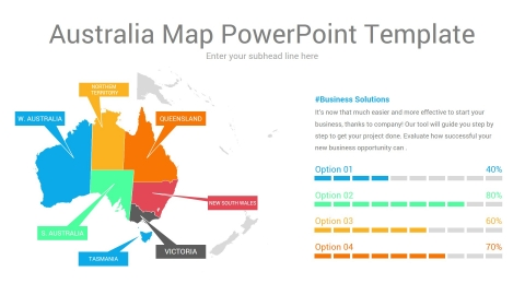 Australia Map PowerPoint Template
