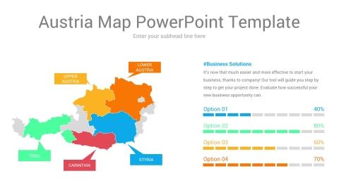 Austria Map PowerPoint Template