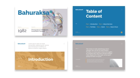 Bahuraksa Photo & Video Portfolio Presentation PPT Template