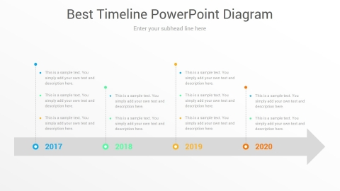 Best Timeline PowerPoint Diagram