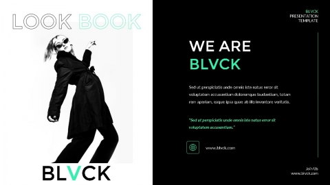 Black Company Powerpoint Template
